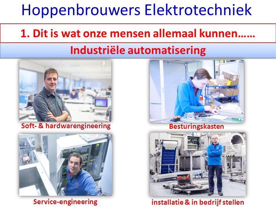 Industriële automatisering Soft- & hardwarengineering installatie & in bedrijf stellen Besturingskasten Service-engineering Hoppenbrouwers Elektrotechniek 1.
