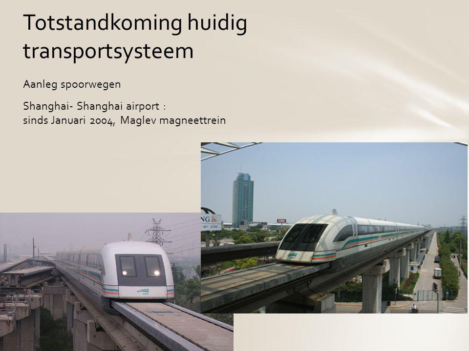 Aanleg spoorwegen Shanghai- Shanghai airport : sinds Januari 2004, Maglev magneettrein Totstandkoming huidig transportsysteem