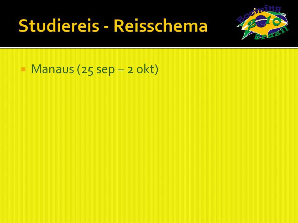 Manaus (25 sep – 2 okt)