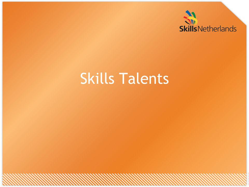 Skills Talents voor wie Laatstejaars vmbo'ers 11 verschillende vakrichtingen Alle vmbo scholen Docenten
