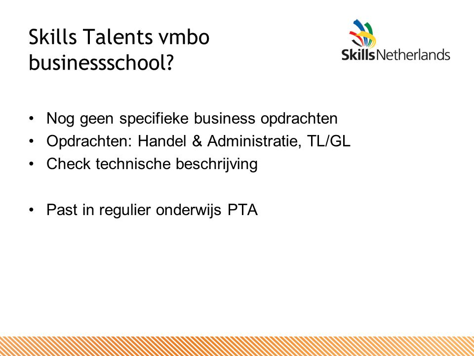 Skills Talents vmbo businessschool.