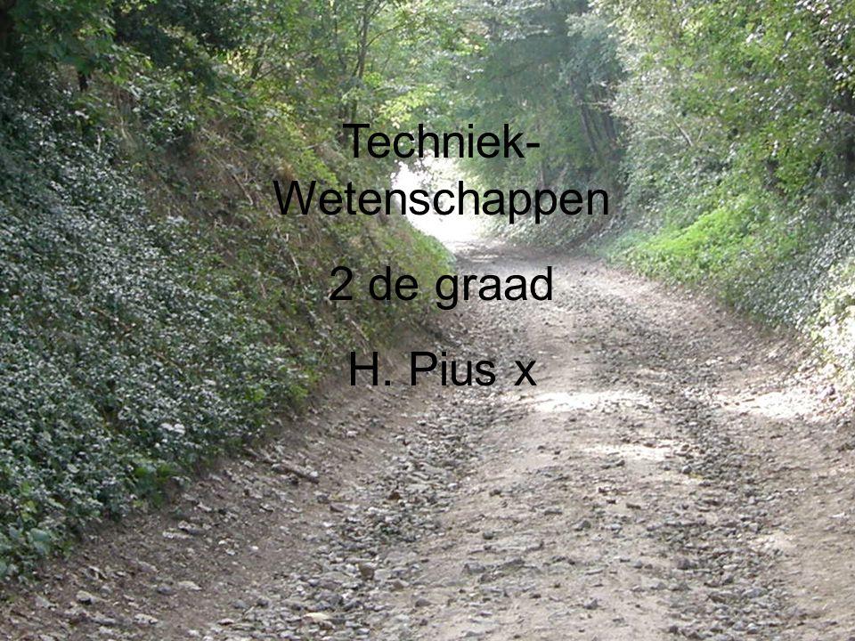 Techniek- Wetenschappen 2 de graad H. Pius x