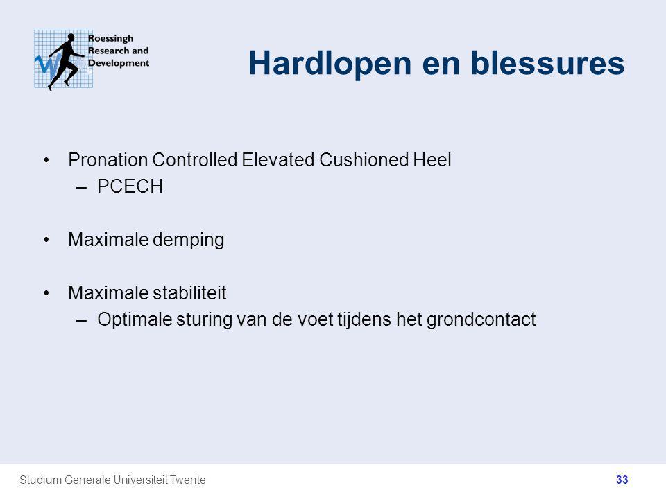 Studium Generale Universiteit Twente Hardlopen en blessures Pronation Controlled Elevated Cushioned Heel –PCECH Maximale demping Maximale stabiliteit