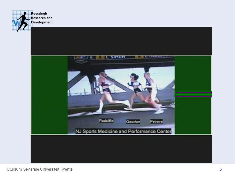 Studium Generale Universiteit Twente Landingspatronen FFS –Sprint –Midden / Lange (MILA) afstand MFS RFS –Positie van landing onder lichaamszwaartepunt 17