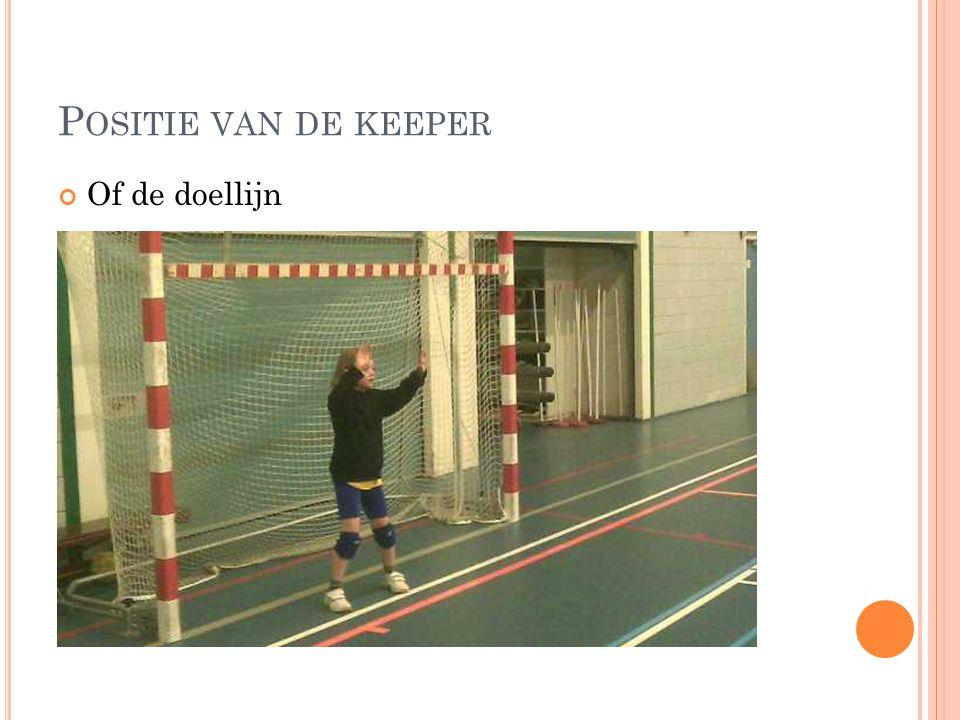 P OSITIE VAN DE KEEPER Of de doellijn Meer naar de goal