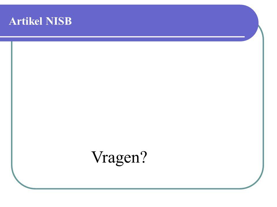 Artikel NISB Vragen