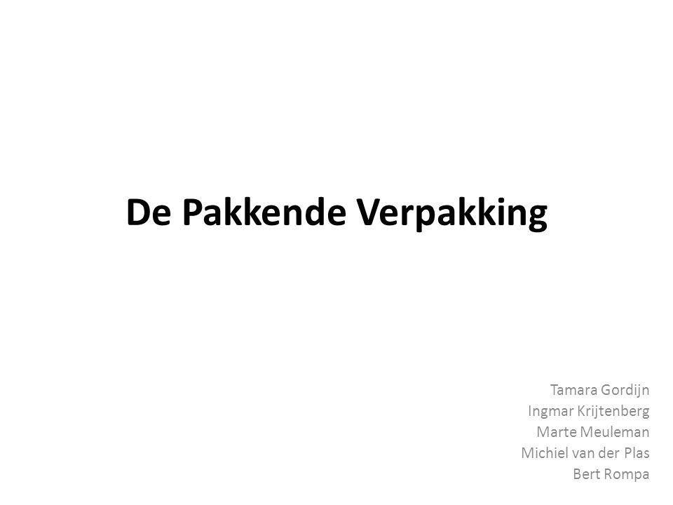 De Pakkende Verpakking Tamara Gordijn Ingmar Krijtenberg Marte Meuleman Michiel van der Plas Bert Rompa