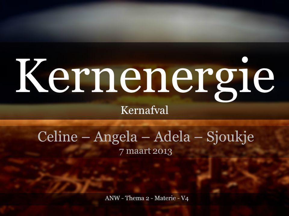 Kernenergie Kernafval Celine – Angela – Adela – Sjoukje 7 maart 2013