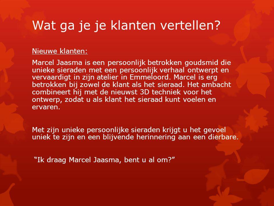 Nieuwe klanten: Marcel Jaasma is een persoonlijk betrokken goudsmid die unieke sieraden met een persoonlijk verhaal ontwerpt en vervaardigt in zijn atelier in Emmeloord.