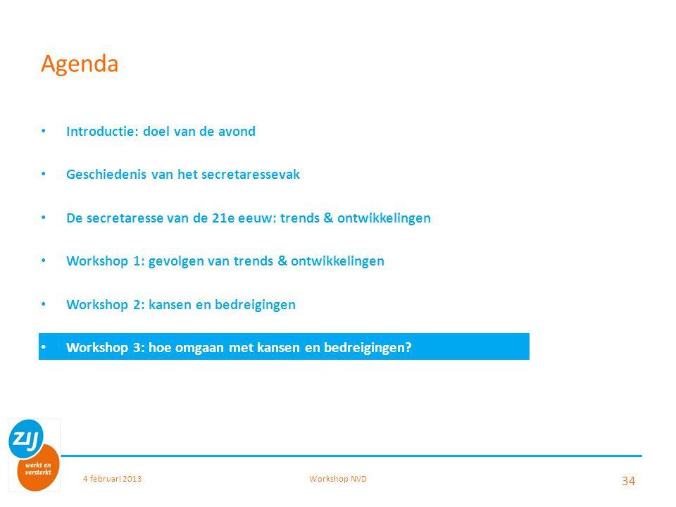 Agenda Introductie: doel van de avond Geschiedenis van het secretaressevak De secretaresse van de 21e eeuw: trends & ontwikkelingen Workshop 1: gevolg