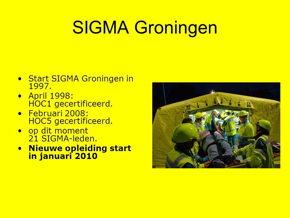 SIGMA Groningen Start SIGMA Groningen in 1997. April 1998: HOC1 gecertificeerd. Februari 2008: HOC5 gecertificeerd. op dit moment 21 SIGMA-leden. Nieu
