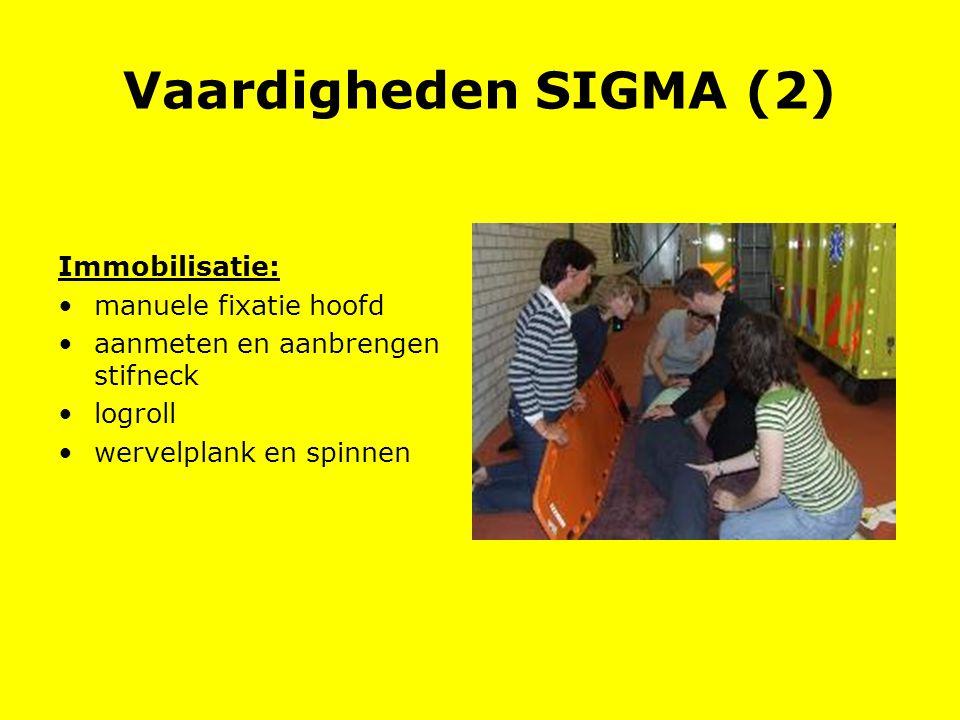Vaardigheden SIGMA (2) Immobilisatie: manuele fixatie hoofd aanmeten en aanbrengen stifneck logroll wervelplank en spinnen
