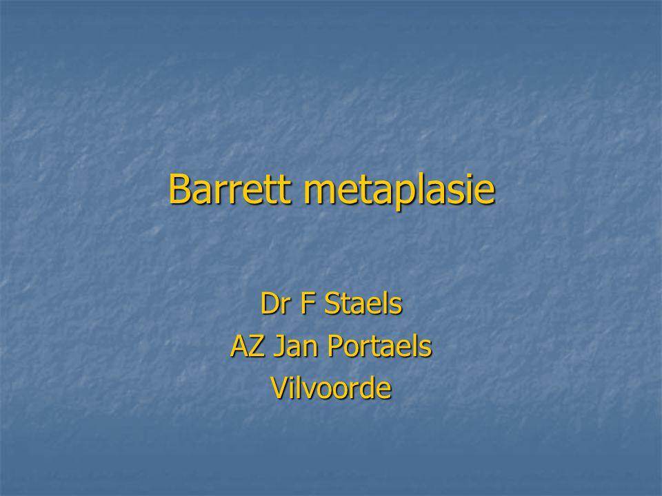 Barrett metaplasie Dr F Staels AZ Jan Portaels Vilvoorde