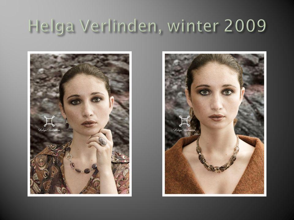 Herfst-Winter Helga Verlinden Collectie herfst-winter 2009/2010 Weerspiegelt ten volle de sfeer die wordt opgeroepen door de herfst en de daaropvolgende winter.
