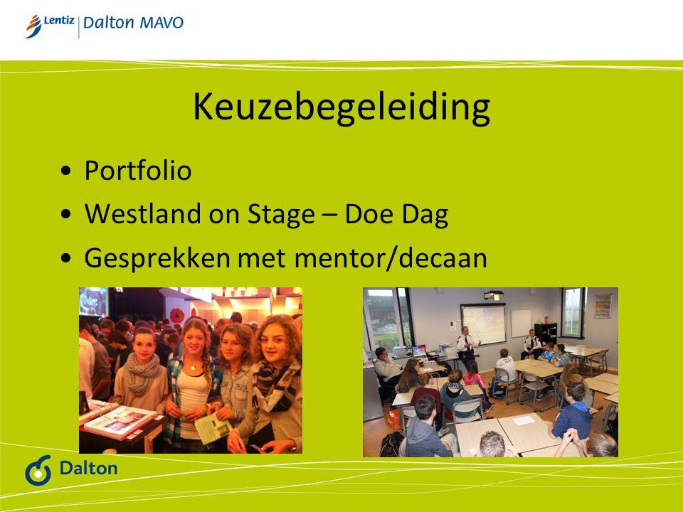 Keuzebegeleiding Portfolio Westland on Stage – Doe Dag Gesprekken met mentor/decaan