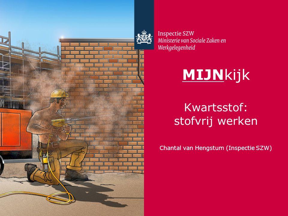 MIJNkijk Kwartsstof: stofvrij werken Chantal van Hengstum (Inspectie SZW)