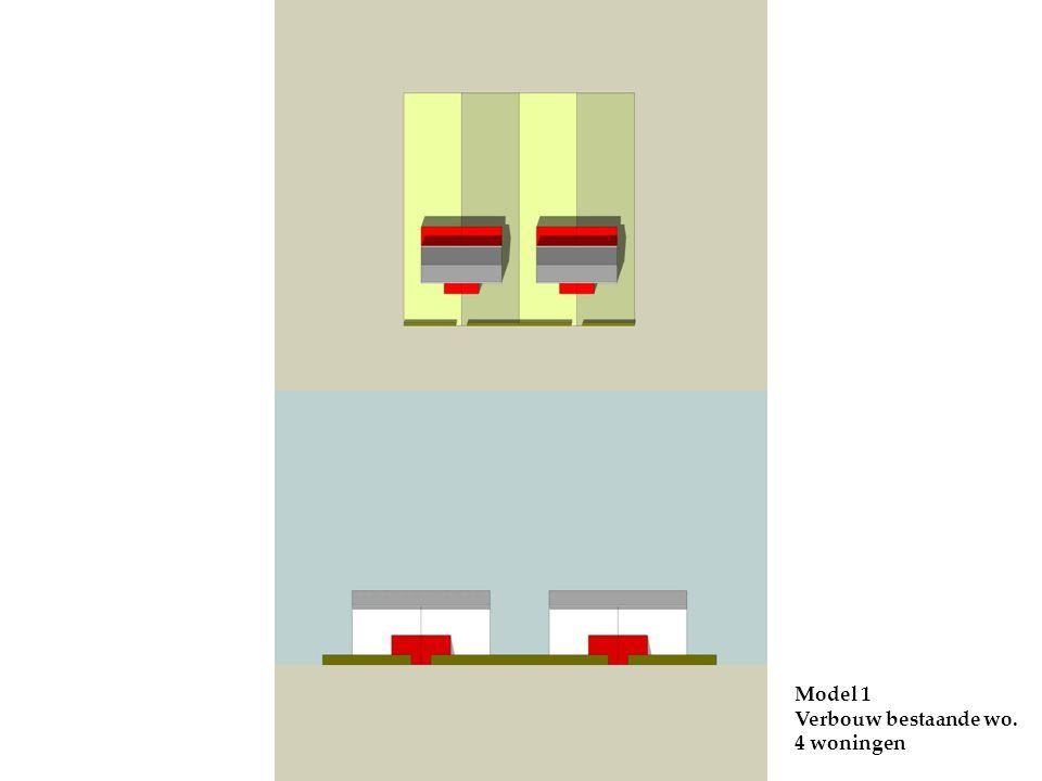 Model 1 Verbouw bestaande wo. 4 woningen