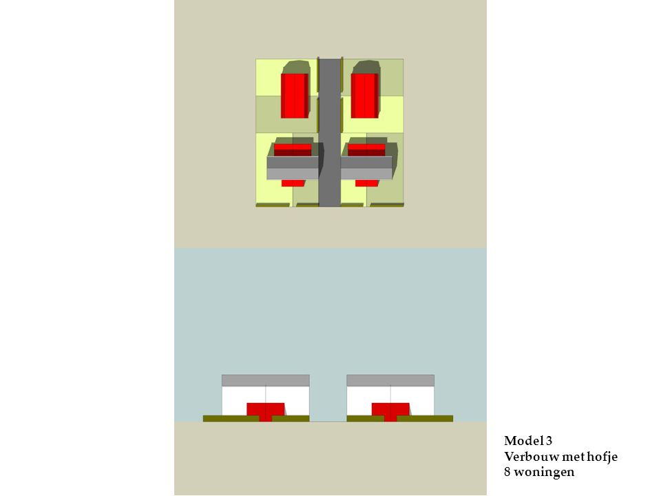 Model 3 Verbouw met hofje 8 woningen