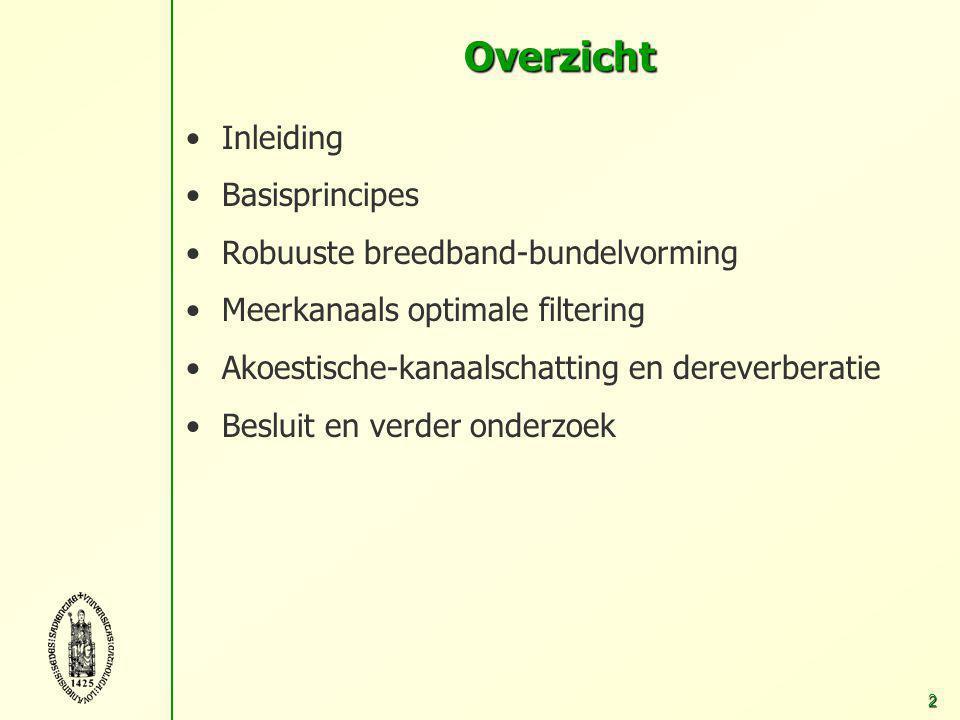 Technieken voor ruisonderdrukking en dereverberatie in spraaktoepassingen met behulp van meerdere microfoons Simon Doclo 21 mei 2003