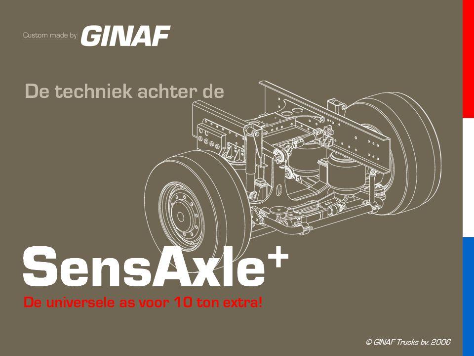 De universele as voor 10 ton extra! De techniek achter de © GINAF Trucks bv, 2006