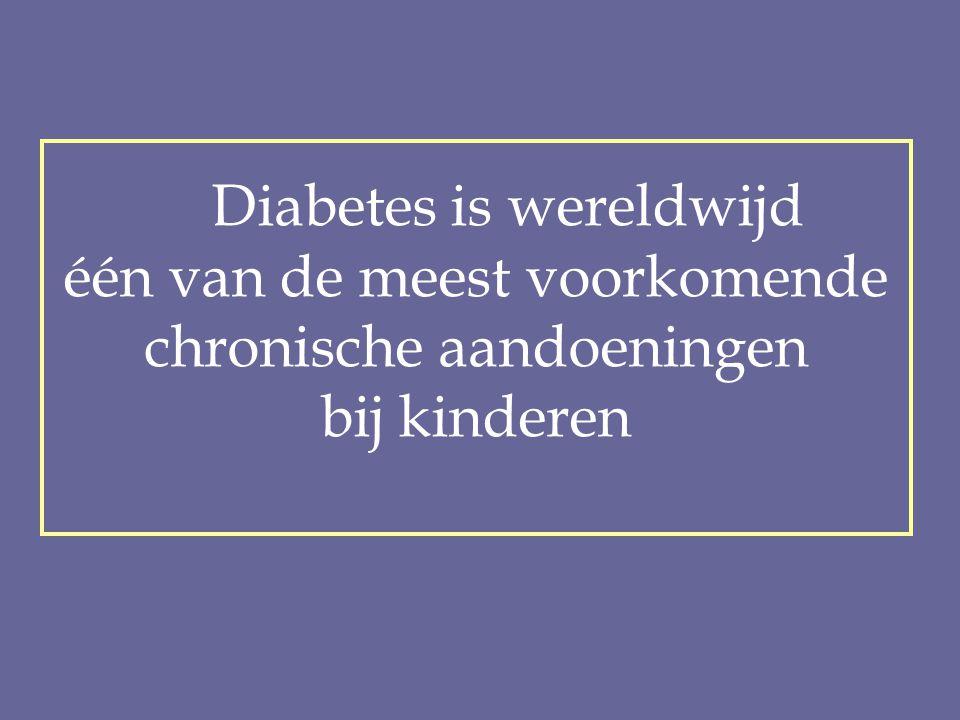 Diabetes is wereldwijd één van de meest voorkomende chronische aandoeningen bij kinderen