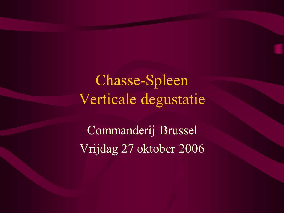 Chasse-Spleen Verticale degustatie Commanderij Brussel Vrijdag 27 oktober 2006