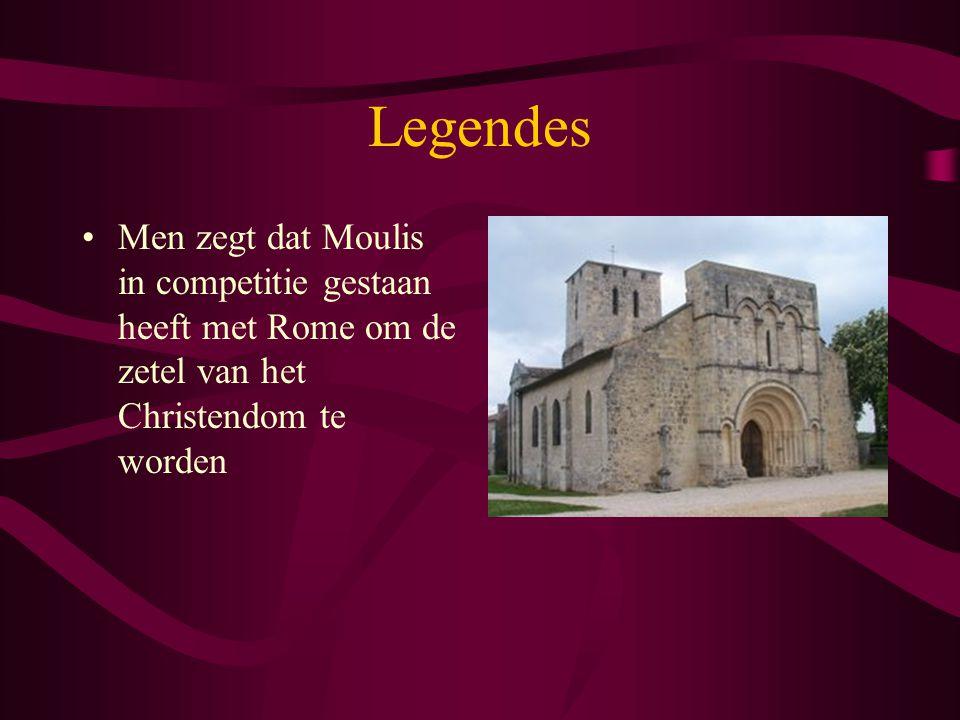 Legendes Men zegt dat Moulis in competitie gestaan heeft met Rome om de zetel van het Christendom te worden