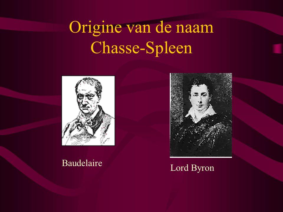 Origine van de naam Chasse-Spleen Baudelaire Lord Byron