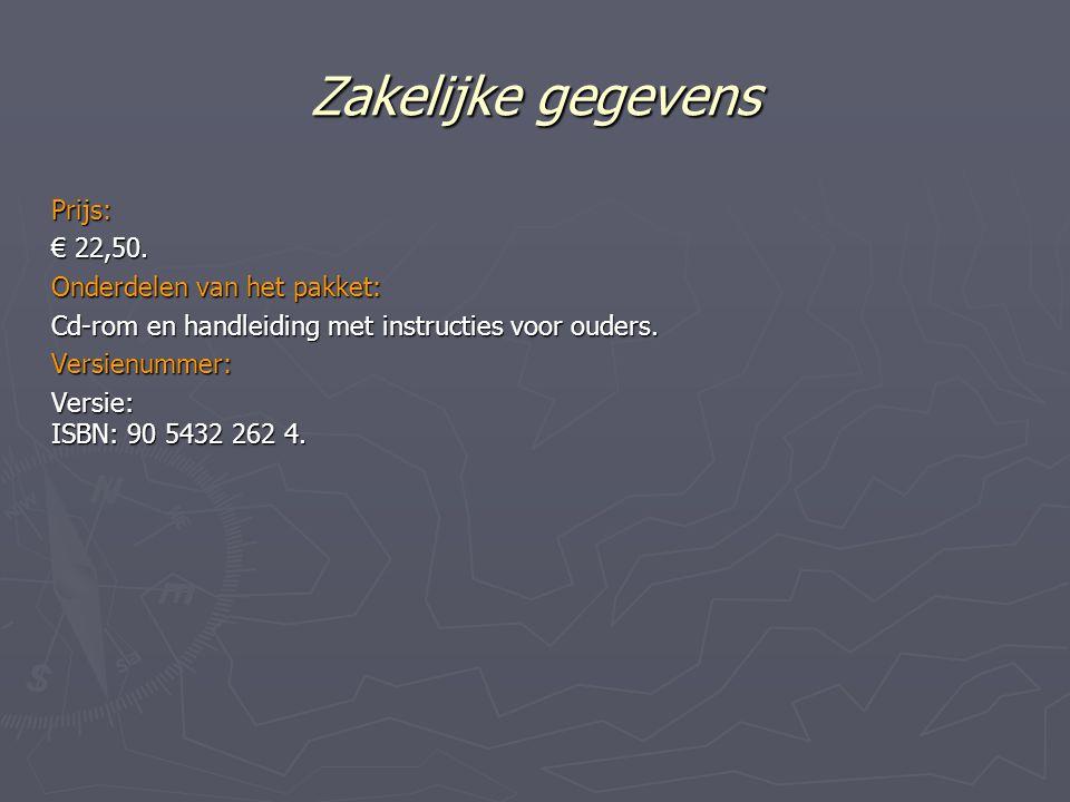 Zakelijke gegevens Prijs: € 22,50.