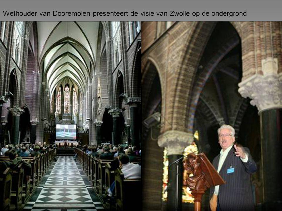 Wethouder van Dooremolen presenteert de visie van Zwolle op de ondergrond