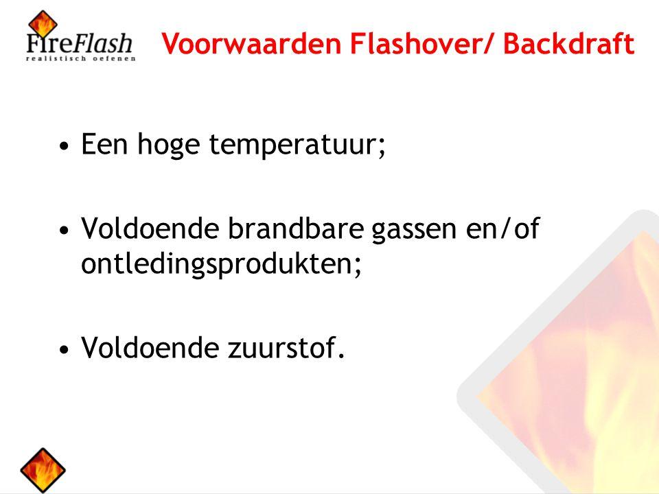 Een hoge temperatuur; Voldoende brandbare gassen en/of ontledingsprodukten; Voldoende zuurstof.