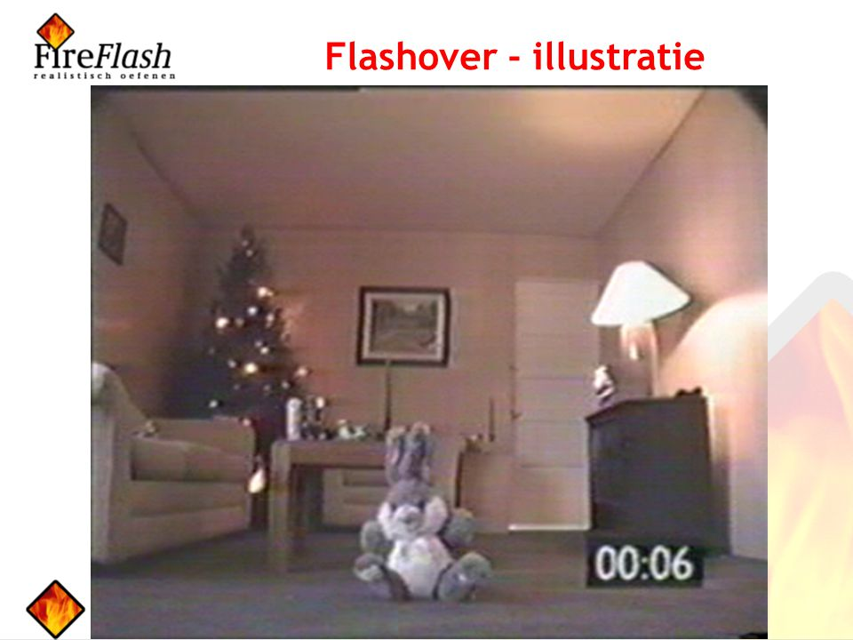 Flashover - illustratie