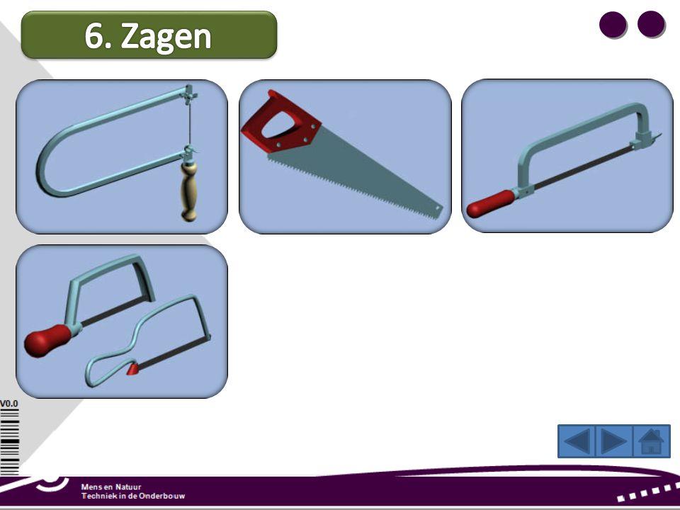 Juniorzaag: Deze kleine zaag gebruik je voor metaal (hout kan ook). Door de fijne vertanding kun je nauwkeurig werken en heb je weinig kans op splinte