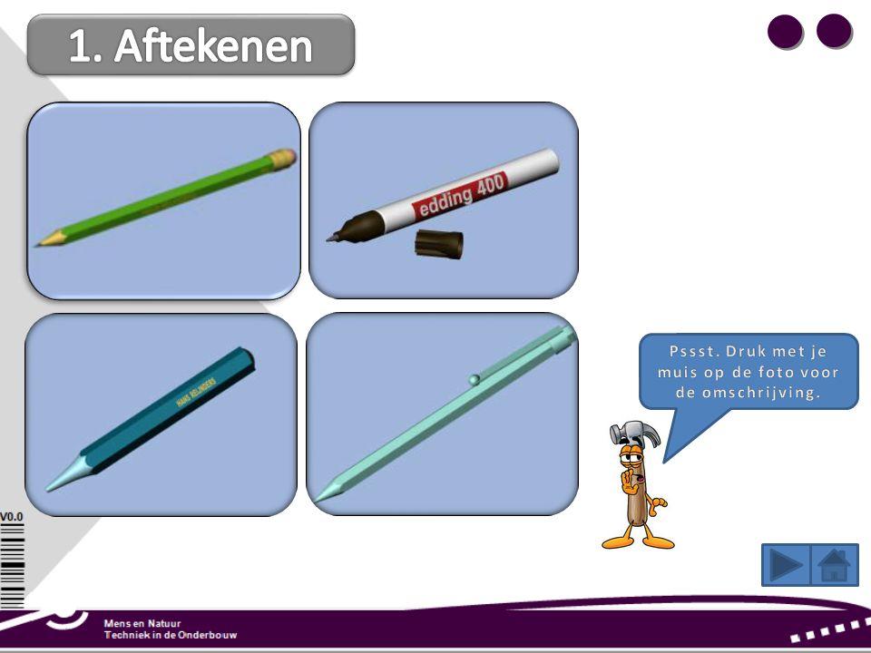 Het potlood is in 1790 uitgevonden en wordt gebruikt voor het maken van een technische tekening of het aftekenen op hout. Veel klei en weinig grafiet