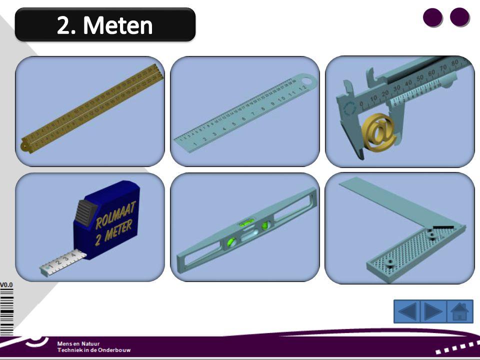 Een rolmaat is een liniaal van dun metaal. De liniaal kan opgerold worden. Een rolmaat gebruik je voor het afmeten van grote lengten. Meestal meet je