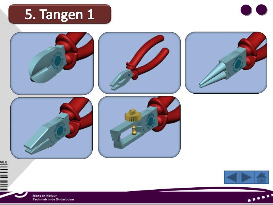 Platbektang: Met deze tang buig je metaaldraad in rechte hoeken. Gebruik de tang als een hefboom. Zo hoef je weinig kracht te gebruiken. Met een strip