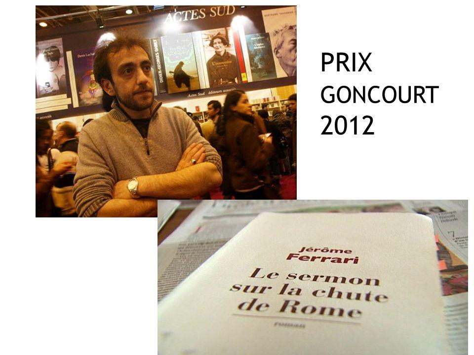 PRIX GONCOURT 2012