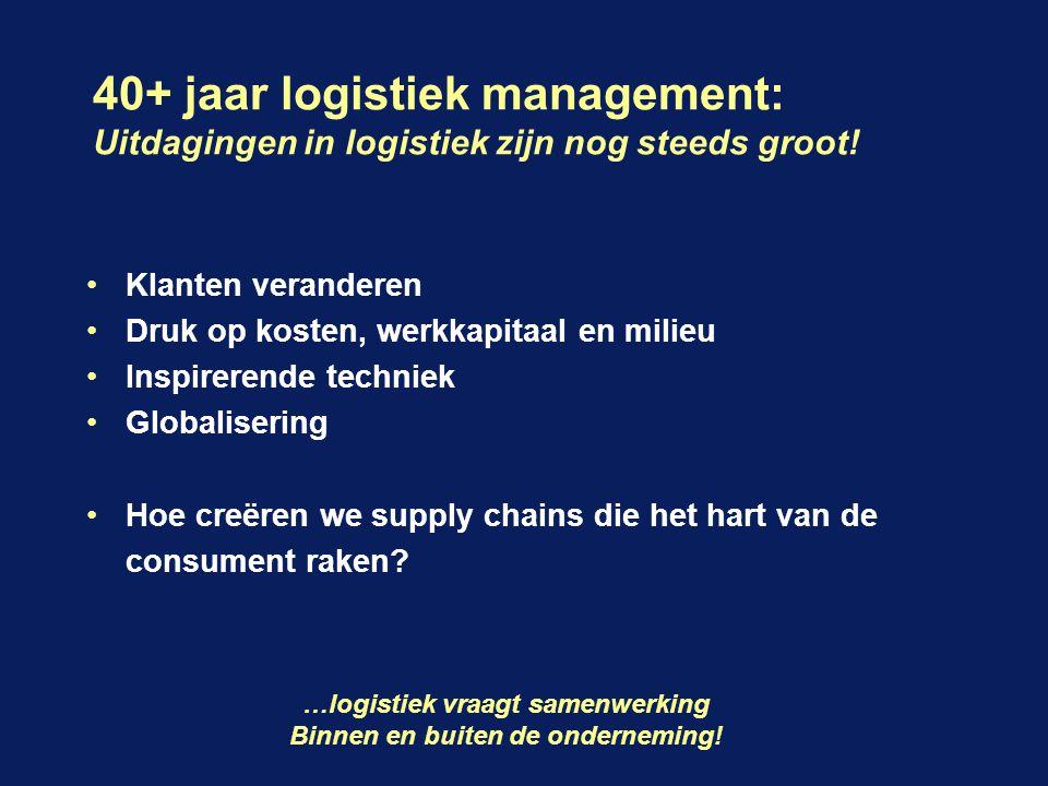 40+ jaar logistiek management: Uitdagingen in logistiek zijn nog steeds groot.