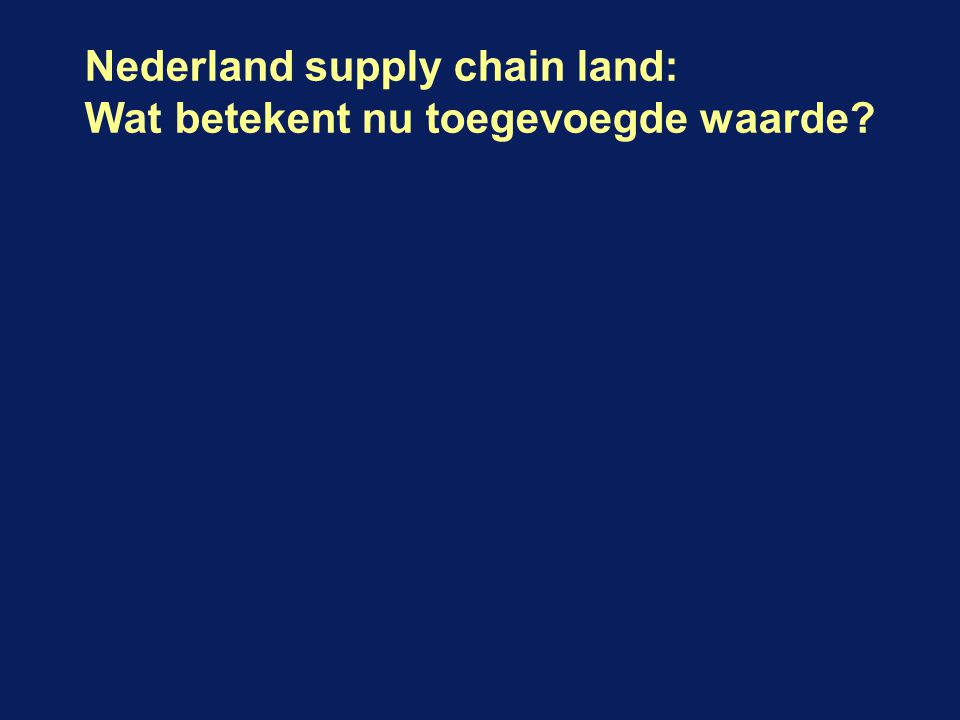 Nederland supply chain land: Wat betekent nu toegevoegde waarde