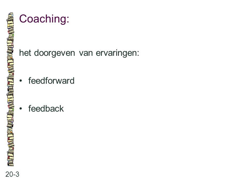 Coaching: 20-3 het doorgeven van ervaringen: feedforward feedback
