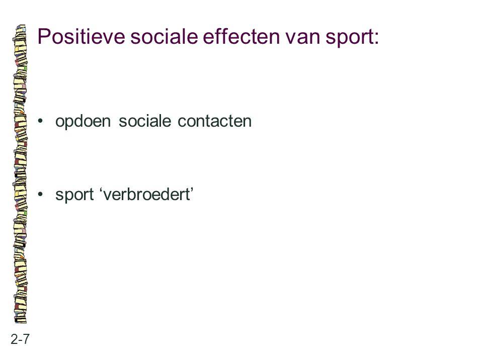 Negatieve lichamelijke effecten van sport: 2-8 tijdelijke blessures blijvende blessures: invaliditeit sterfte