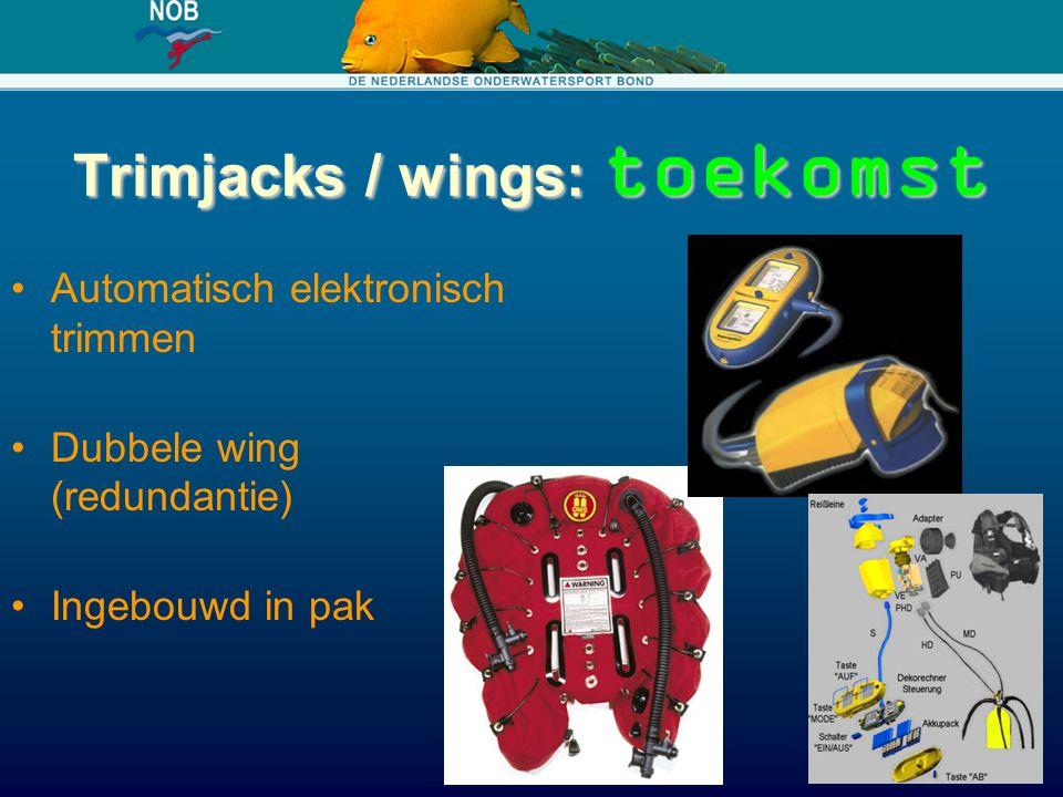 Trimjacks / wings: toekomst Automatisch elektronisch trimmen Dubbele wing (redundantie) Ingebouwd in pak