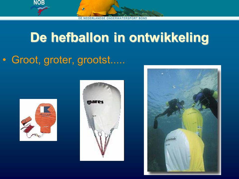De hefballon in ontwikkeling Groot, groter, grootst.....