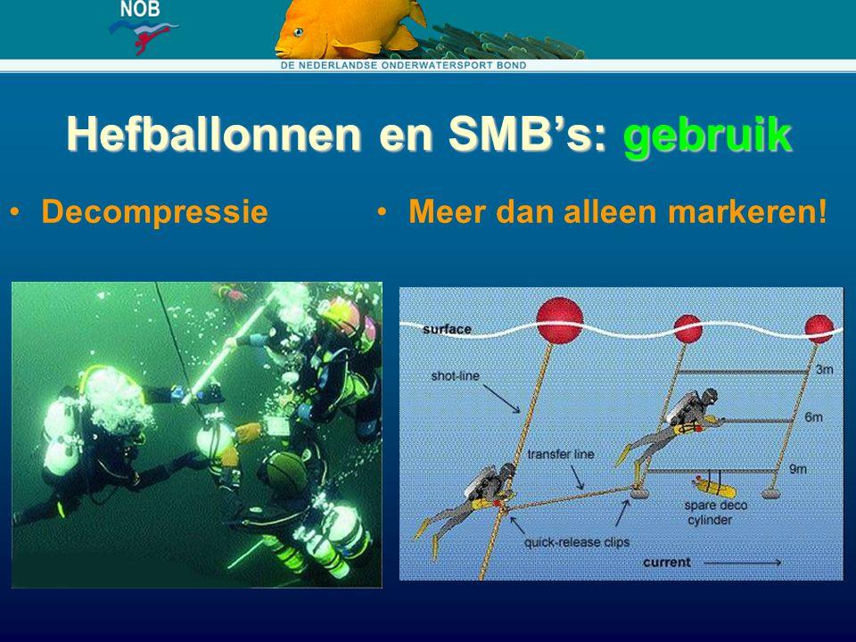 Hefballonnen en SMB's: gebruik DecompressieMeer dan alleen markeren!