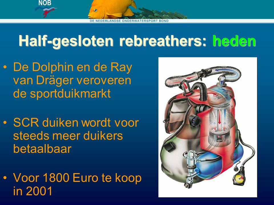 Half-gesloten rebreathers: heden De Dolphin en de Ray van Dräger veroveren de sportduikmarkt SCR duiken wordt voor steeds meer duikers betaalbaar Voor