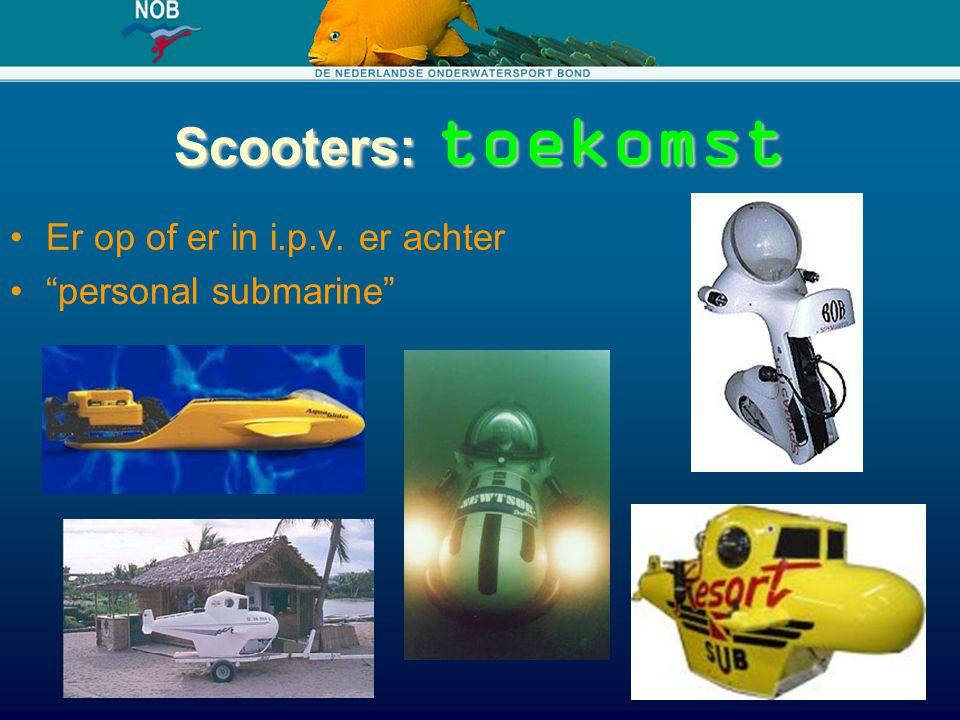 """Scooters: toekomst Er op of er in i.p.v. er achter """"personal submarine"""""""