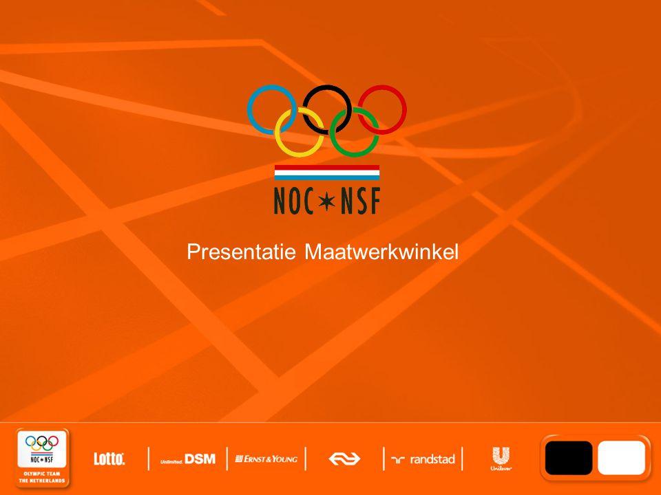 Click to edit Master title style Ambition 2012 Partners in Sport 2 juni 2008 Presentatie Maatwerkwinkel