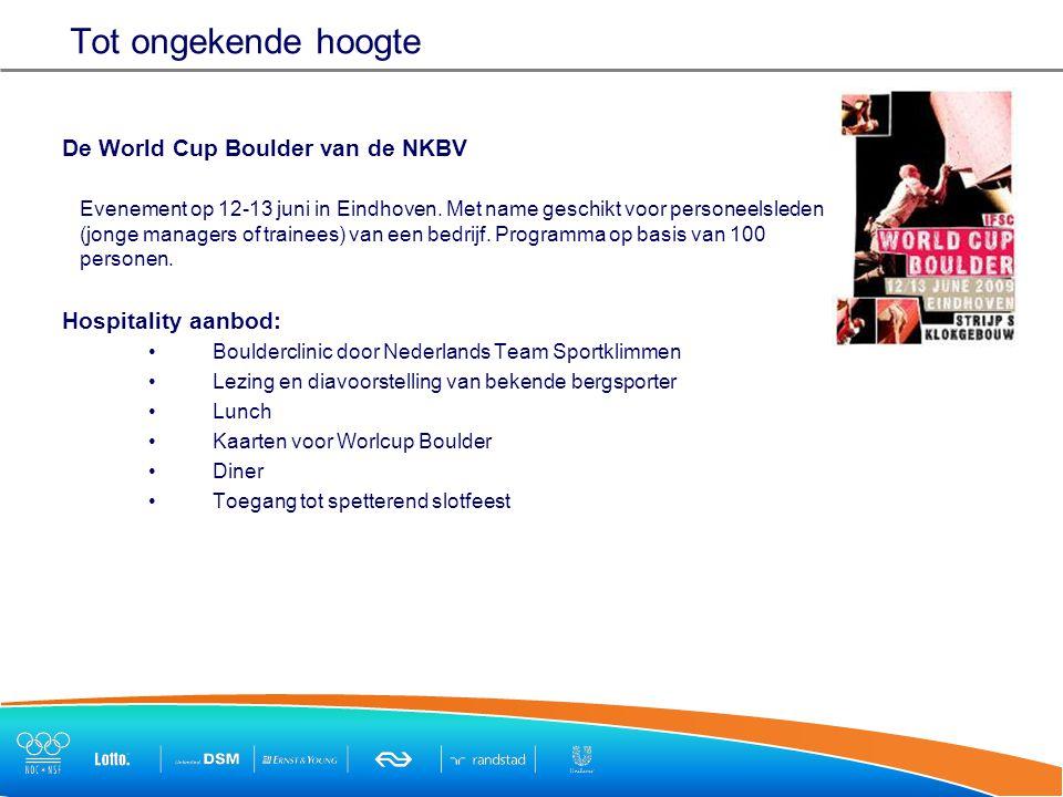 Tot ongekende hoogte De World Cup Boulder van de NKBV Evenement op 12-13 juni in Eindhoven.