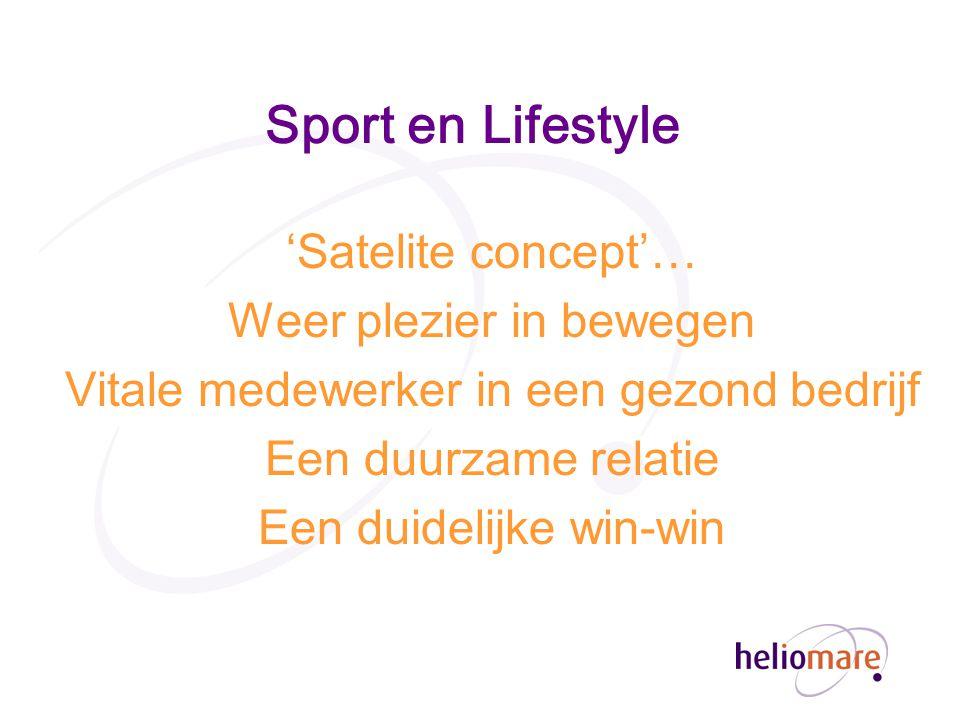 Sport en Lifestyle 'Satelite concept'… Weer plezier in bewegen Vitale medewerker in een gezond bedrijf Een duurzame relatie Een duidelijke win-win