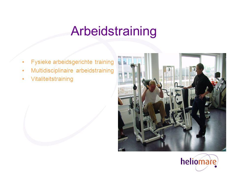 Arbeidstraining Fysieke arbeidsgerichte training Multidisciplinaire arbeidstraining Vitaliteitstraining